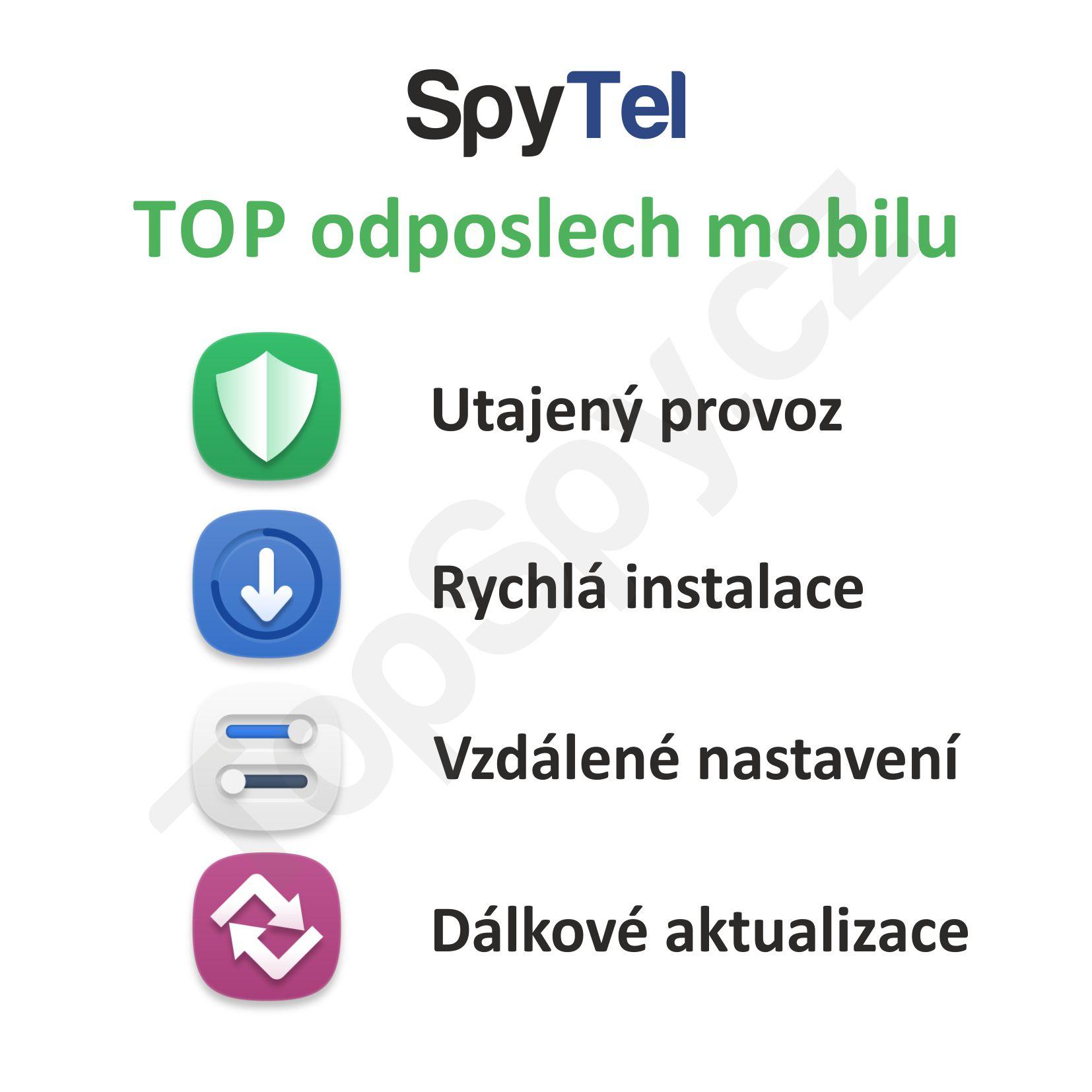 Profesionální odposlech mobilního telefonu SpyTel