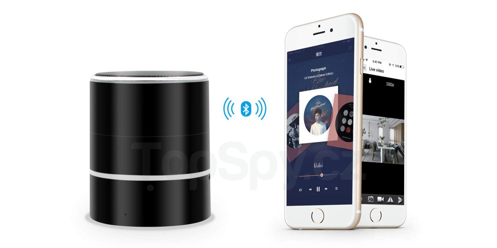 Skrytá wifi kamera Bluetooth reproduktor REPRO 8