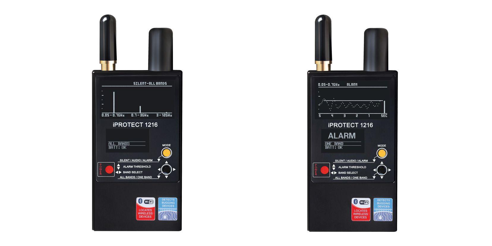 Výkonný detektor odposlechů iProtect 1216